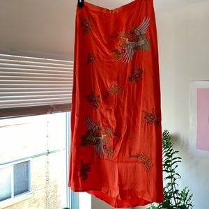 Anthropologie Skirts - Anthropologie Crane Embroidered Skirt